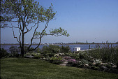 view [Sandy Point]: lawn and path leading to dock on river. digital asset: [Sandy Point]: lawn and path leading to dock on river.: 1998 May.