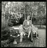 view [Broughton Garden]: landscape architect Alice Ireys in the garden. digital asset: [Broughton Garden] [photographic print]: landscape architect Alice Ireys in the garden.