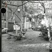 view [Broughton Garden]: bricked area and back of house. digital asset: [Broughton Garden] [photographic print]: bricked area and back of house.