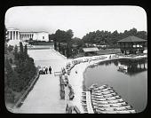 view Albright-Knox Art Gallery digital asset: Albright-Knox Art Gallery [slide]: Hoyt Lake in the foreground.