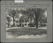 view Hill-Stead: Lawn view; Large tree moved by Hicks Nurseries digital asset: Pope Garden [photoprint]