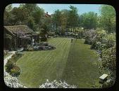 view [Bissell Garden]: an overhead view of the garden. digital asset: [Bissell Garden] [lantern slide]: an overhead view of the garden.