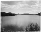 view [Miscellaneous Sites in the Adirondack Mountains]: Lower Saranac Lake, looking south from the north end of the lake. digital asset: [Miscellaneous Sites in the Adirondack Mountains] [glass negative]: Lower Saranac Lake, looking south from the north end of the lake.