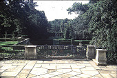 view Knole: view of lower formal gardens of south end of Italian Villa. digital asset: Knole: view of lower formal gardens of south end of Italian Villa.: 09/09/1984