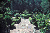 view [Hillwood]: formal box gardens with brick work. digital asset: [Hillwood]: formal box gardens with brick work.: 2002 May.