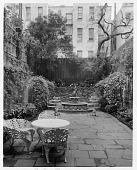 view [Stevens Garden]: overview of garden. digital asset: [Stevens Garden] [safety film negative and photographic print]: overview of garden.