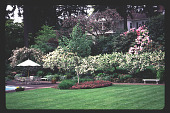 view [High Hatch]: west end of formal garden. digital asset: [High Hatch]: west end of formal garden.: 1997 May.