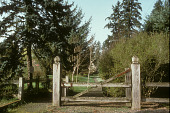 view [William Case House]: entry gate. digital asset: [William Case House]: entry gate.: 1994 Apr.
