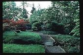 view [Stubblefield Garden]: facing east toward bridge from driveway. digital asset: [Stubblefield Garden]: facing east toward bridge from driveway.: 1995 May.