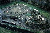 view [Hieronimus Garden]: train garden from above. digital asset: [Hieronimus Garden]: train garden from above.: 1993 Jul.