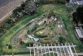 view [Hieronimus Garden]: train garden from above, including part of arbor. digital asset: [Hieronimus Garden]: train garden from above, including part of arbor.: 1995 Sep.