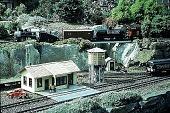 view [Hieronimus Garden]: train garden railroad station. digital asset: [Hieronimus Garden]: train garden railroad station.: 1996 Sep.