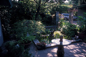 view [Jardin de mis Sueños]: entrance courtyard and water feature. digital asset: [Jardin de mis Sueños]: entrance courtyard and water feature.: 2006 Jul.