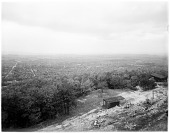 view [Miscellaneous Sites in Reading, Pennsylvania]: view from Mt. Penn looking into Reading, from the present-day site of the Pagoda. digital asset: [Miscellaneous Sites in Reading, Pennsylvania] [glass negative]: view from Mt. Penn looking into Reading, from the present-day site of the Pagoda.