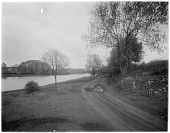 view [Miscellaneous Sites in Reading, Pennsylvania]: the Schuylkill River near Reading. digital asset: [Miscellaneous Sites in Reading, Pennsylvania] [glass negative]: the Schuylkill River near Reading.