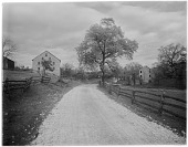 view [Miscellaneous Sites in Reading, Pennsylvania]: a stone barn and other buildings, including what may be a ruined mill, along Wyomissing Creek near Reading. digital asset: [Miscellaneous Sites in Reading, Pennsylvania] [glass negative]: a stone barn and other buildings, including what may be a ruined mill, along Wyomissing Creek near Reading.