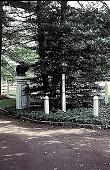 view [Hidden Glen Farms]: view of entrance to home and gardens (northeast). digital asset: [Hidden Glen Farms]: view of entrance to home and gardens (northeast).: 1998 Jul.