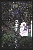 view [Hidden Glen]: drive entrance. digital asset: [Hidden Glen]: drive entrance.: 1998 Apr.