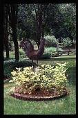 view [Hidden Glen]: closeup of chicken folk art ornament. digital asset: [Hidden Glen]: closeup of chicken folk art ornament.: 1998 Jul.