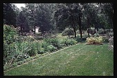 view [Hidden Glen]: view of left side of perennial border. digital asset: [Hidden Glen]: view of left side of perennial border.: 1998 Jul.