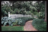 view [Hidden Glen]: view of garden exit to drive. digital asset: [Hidden Glen]: view of garden exit to drive.: 1998 Jul.