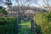 view [Druim Moir]: Inside the sunken garden is an octagonal fountain with concrete benches. digital asset: [Druim Moir]: Inside the sunken garden is an octagonal fountain with concrete benches.: 2018 December 7