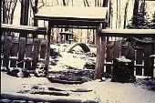 view [Dans La Foret]: entrance gate in winter. digital asset: [Dans La Foret]: entrance gate in winter.: 2001 Jan.