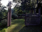 view [Tohickon Hill]: the gates were designed by Jeffrey Cayle. digital asset: [Tohickon Hill] [transparency]: the gates were designed by Jeffrey Cayle.