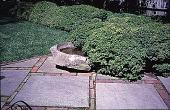 view [Rochambeau House]: granite bird bath. digital asset: [Rochambeau House]: granite bird bath.: 1999 May.