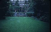 view [Rochambeau House]: house and west garden from lower lawn. digital asset: [Rochambeau House]: house and west garden from lower lawn.: 1952.