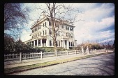 view [Aldrich House and Garden]: federal style house. digital asset: [Aldrich House and Garden]: federal style house.