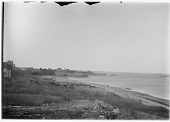 view [Miscellaneous Sites on the North Shore of Massachusetts]: looking toward Castle Rock in Marblehead, with the Marblehead Light tower barely visible in the left center distance. digital asset: [Miscellaneous Sites on the Massachusetts North Shore] [glass negative]: looking toward Castle Rock in Marblehead, with the Marblehead Light tower barely visible in the left center distance.