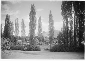 view [Miscellaneous Sites in Switzerland]: Spiez, with its castle in the background. digital asset: [Miscellaneous Sites in Switzerland] [glass negative]: Spiez, with its castle in the background.