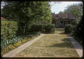 view Black Garden: lawns divided by hedges. digital asset: Black Garden [slide (photograph)]: lawns divided by hedges.