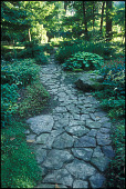 view [Bickie McDonnell Garden]: a dry creek bed is lined wtih Arkansas fieldstones and boulders. digital asset: [Bickie McDonnell Garden]: a dry creek bed is lined wtih Arkansas fieldstones and boulders.: 2009 May.