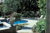 view [Fairbourne]: pool and fountain. digital asset: [Fairbourne]: pool and fountain.: 2002 May.