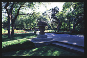 view [Dallas Arboretum and Botanical Garden]: garden furniture and sculpture. digital asset: [Dallas Arboretum and Botanical Garden]: garden furniture and sculpture.: 1996 May.