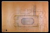 view [Dogwoods]: interior design of pool house and surrounding flower landscaping. digital asset: [Dogwoods]: interior design of pool house and surrounding flower landscaping.: 1962.