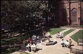 view [Christ Church Cathedral]: overview of garden being used as weekday luncheon spot. digital asset: [Christ Church Cathedral]: overview of garden being used as weekday luncheon spot.: 1992 Mar.