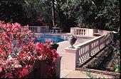 view [Rienzi]: pool and surrounding terrace with balustrade railing. digital asset: [Rienzi]: pool and surrounding terrace with balustrade railing.: 1985.