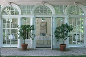 view [Sewell Garden]: the orangerie is used for entertaining. digital asset: [Sewell Garden]: the orangerie is used for entertaining.: 2014 May.
