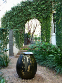 view [Monte Vista Garden]: the Secret Garden, located to the west of the house, features a bubbling fountain. digital asset: [Monte Vista Garden]: the Secret Garden, located to the west of the house, features a bubbling fountain.: 2010 Feb.