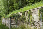 view [Bayou Bluff]: a butterfly garden is tucked into a terrace on the retaining wall with a wildflower garden above. digital asset: [Bayou Bluff]: a butterfly garden is tucked into a terrace on the retaining wall with a wildflower garden above.: 2014 Mar.
