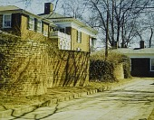 view [University of Virginia]: serpentine wall along alley behind pavilions 3 and 5. digital asset: [University of Virginia]: serpentine wall along alley behind pavilions 3 and 5.: [between 1914 and 1949?]