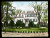view [Reveille]: front of house and boxwoods. digital asset: [Reveille]: front of house and boxwoods.: [between 1914 and 1949?]