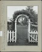 view [Ackerman Garden]: entrance to early spring garden. digital asset: [Ackerman Garden] [photoprint]: entrance to early spring garden.