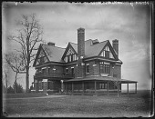 view [Grafton Hall]: the house, with its porte cochere and porches. digital asset: [Grafton Hall] [glass negative]: the house, with its porte cochere and porches.