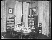 view [Grafton Hall]: a dining area in the house. digital asset: [Grafton Hall] [glass negative]: a dining area in the house.