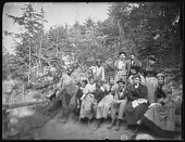 view [Grafton Hall]: an unidentified group of people, presumably on the grounds of Grafton Hall. digital asset: [Grafton Hall] [glass negative] an unidentified group of people, presumably on the grounds of Grafton Hall.