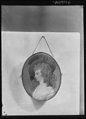 view [Miscellaneous Images in Virginia]: photograph of a portrait of Elizabeth French Dulany. digital asset: [Miscellaneous Images in Virginia] [glass negative]: photograph of a portrait of Elizabeth French Dulany.